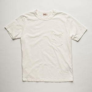 Freenote Cloth Vintage Wash Pocket T-Shirt - White
