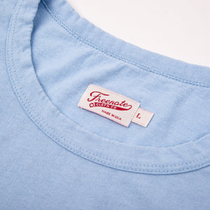 Freenote Cloth 9oz Pocket T-Shirt - Baby Blue
