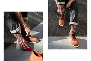 3sixteen x CHUP Socks FW18- Burgundy - Franklin & Poe