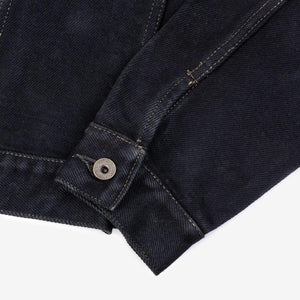 Iron Heart IH-526J-22OD 22oz Selvedge Denim Type III Jacket - Indigo Overdyed Black