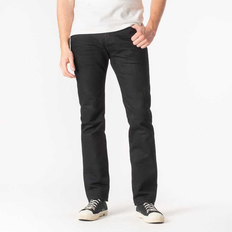 Iron Heart IH-777S-142bb 14 oz. Selvedge Denim Super Slim Tapered Cut - Black/Black