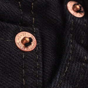Iron Heart IH-777S-142mb 14oz Selvedge Denim Slim Tapered - Mad Black