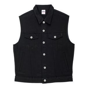 Iron Heart IH-9526V Type III Vest - 21 oz. Super Black Non-Fade Denim