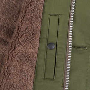 Iron Heart IHM-29 Alpaca Lined Whipcord N1 Deck Jacket - Olive - Franklin & Poe