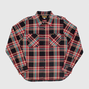 Iron Heart IHSH-238-BLK - Black Crazy Check Ultra Heavy Flannel Work Shirt