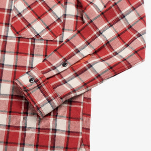 Iron Heart IHSH-268-RED Ultra Heavy Flannel Small Block Check Workshirt - Red
