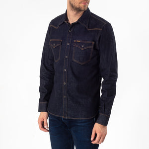 Iron Heart IHSH-33 Indigo - 12oz Selvedge Denim Western