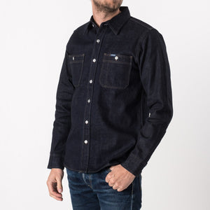 Iron Heart IHSH-75 Indigo 12 oz. Selvedge Denim Work Shirt - Franklin & Poe