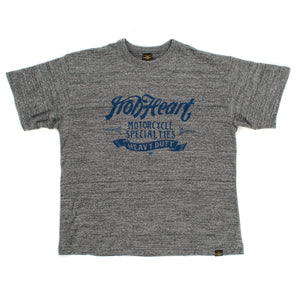 Iron Heart IHT-1800 Printed 6.5 oz Loopwheel T-shirt - Grey - Franklin & Poe