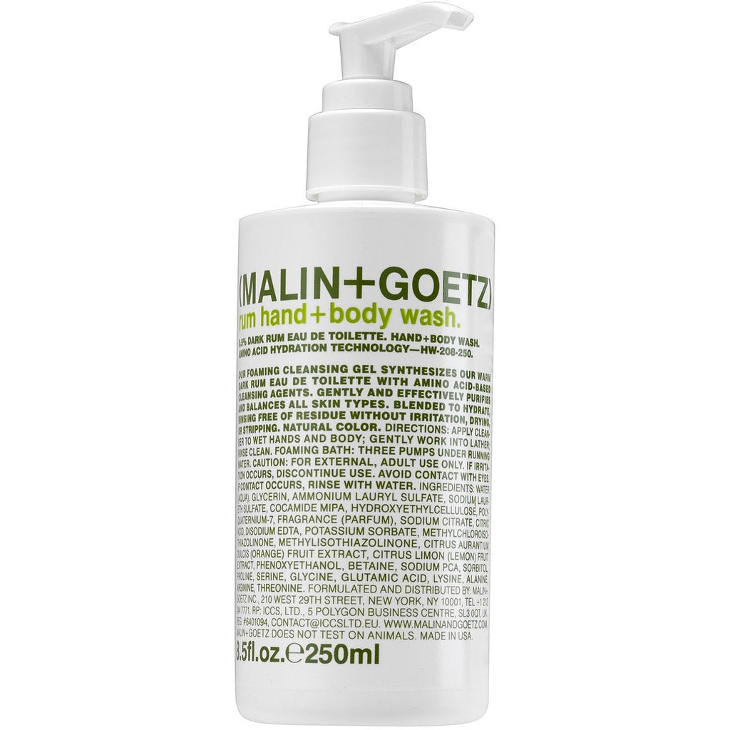 Malin + Goetz Rum Hand + Body Wash - Franklin & Poe