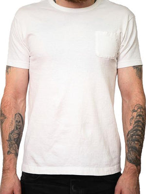 Left Field NYC Custom Tube Pocket Tee 2 Pack - White