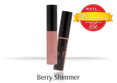 Lip Glaze (5ml) - Berry Shimmer-Reflections Organics - Natural & Organic Makeup