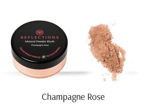 Mineral Powder Blush (7g) - Champagne Rose-Reflections Organics - Natural & Organic Makeup