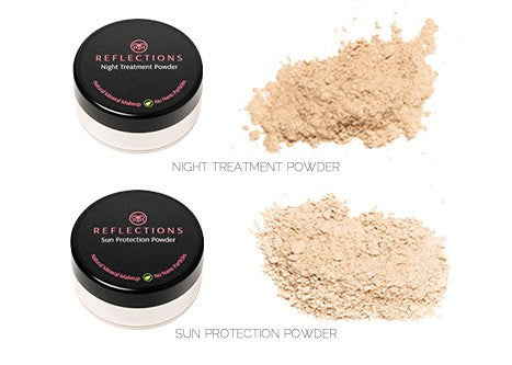 Sun Protection / Night Treatment Powder Bundle - Reflections Organics - Natural & Organic Makeup