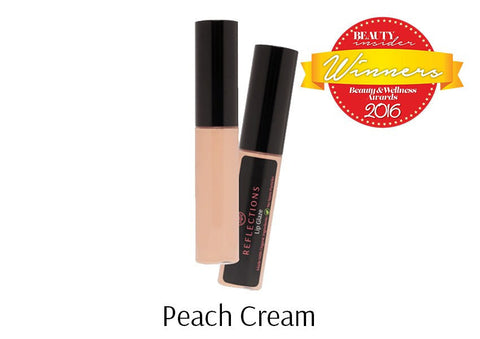 Lip Glaze (5ml) - Peach Cream-Reflections Organics - Natural & Organic Makeup