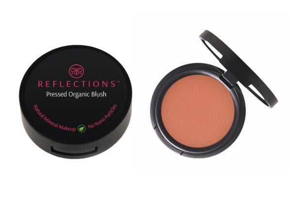 NEW Pressed Organic Blush (4g) - Peach Tulip-Reflections Organics - Natural & Organic Makeup