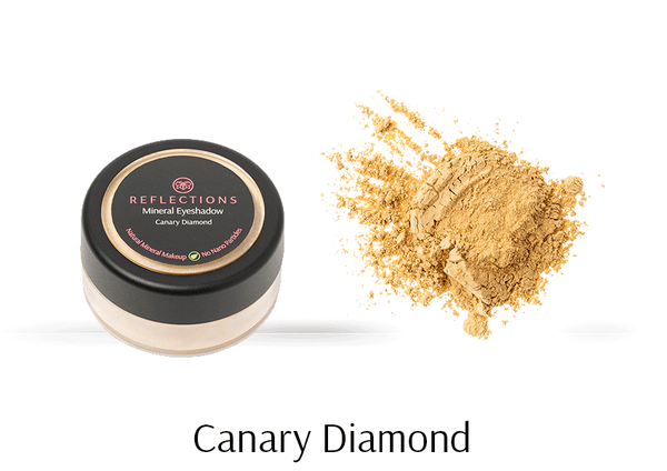 Mineral Eye Shadow (2.5g) - Canary Diamond-Reflections Organics - Natural & Organic Makeup