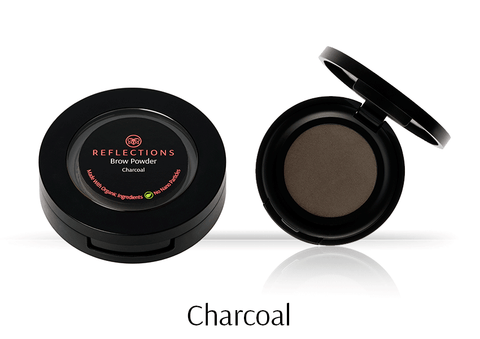 Brow Powder (2.5g) - Charcoal-Reflections Organics - Natural & Organic Makeup