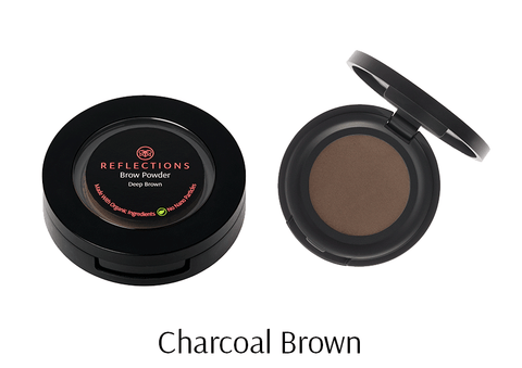 Brow Powder (2.5g) - Charcoal Brown-Reflections Organics - Natural & Organic Makeup