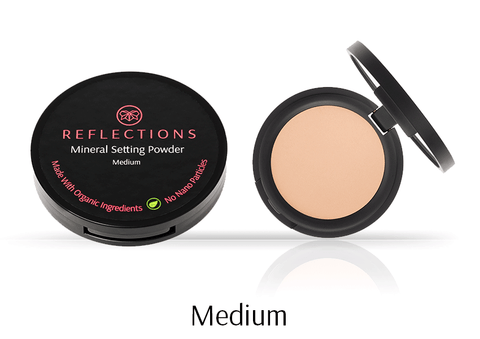 Mineral Setting Powder (12g) - Medium-Reflections Organics - Natural & Organic Makeup