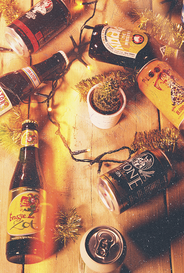 A selection of craft beer from around the world
