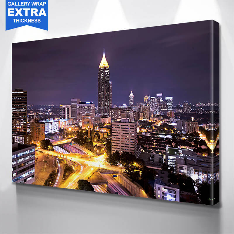 Atlanta Amazing Downtown Skyline Wall Art Canvas Art