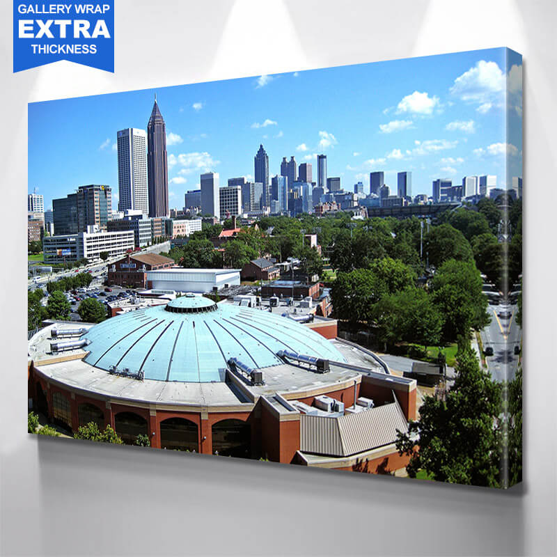 Blue Atlanta Skyline Wall Art Canvas Art