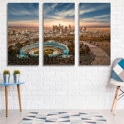 3 Piece Dodger Stadium Wall Art