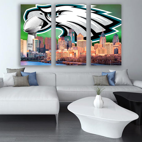 Amazing Philadelphia Championship Skyline Canvas