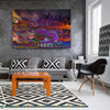 Image of Abstract LA Skyline Canvas Wall Art