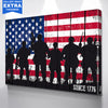 Image of American Troops Military Wall Art