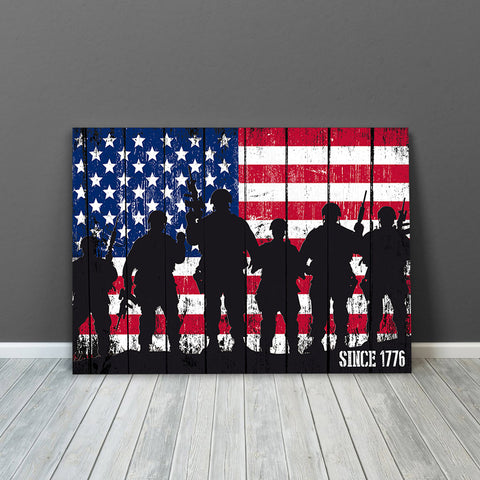 American Troops Military Wall Art