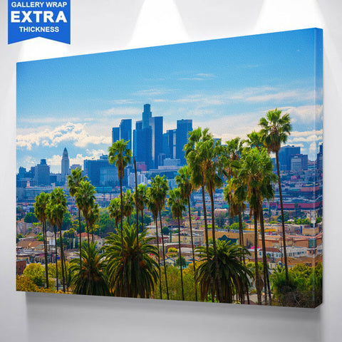 Beautiful Los Angeles Skyline Wall Art Canvas