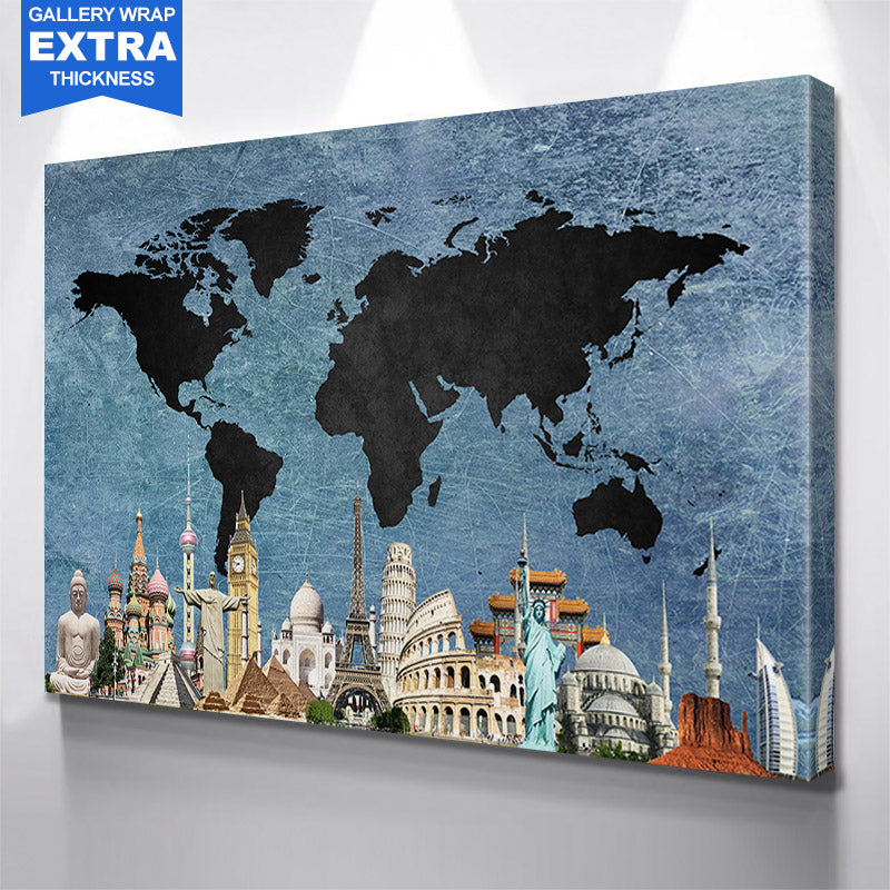 World maps zapwalls blue black world map landmark gumiabroncs Choice Image