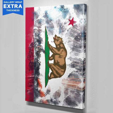 Breaking Through Cali Flag LA Canvas