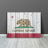 Image of California Flag Wood Canvas Wall Art