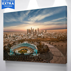 Chavez Ravine LA Skyline Canvas