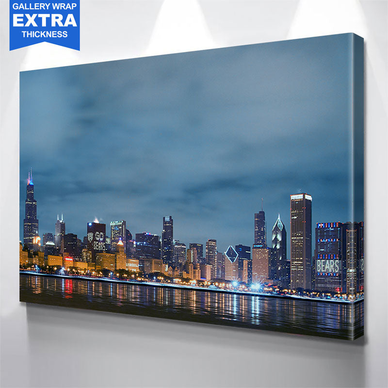 Chicago Bears Skyline Wall Art