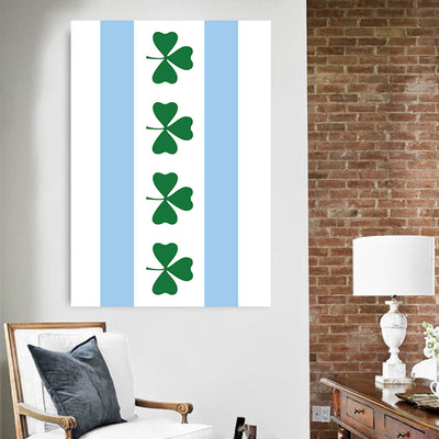 Chicago Irish Vertical Canvas