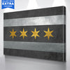 Chicago Gold Flag Canvas