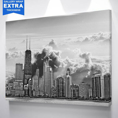 Cloudy Chicago Skyline Canvas