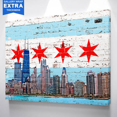 Chicago Flag Skyline Canvas