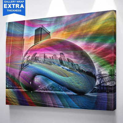 Colorful Bean Chicago Canvas