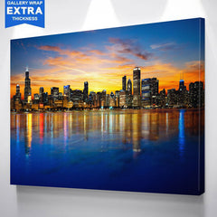 AMAZING COLORFUL CHICAGO SKYLINE CANVAS