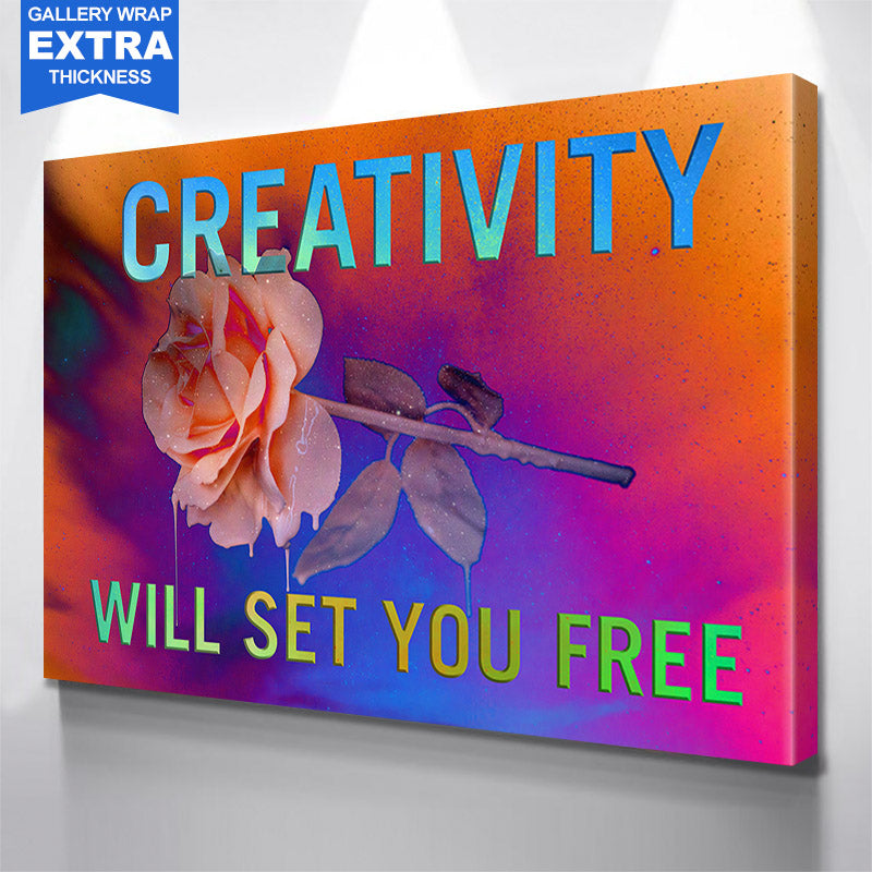 Creativity Will Set You Free Canvas Motivational Wall Art