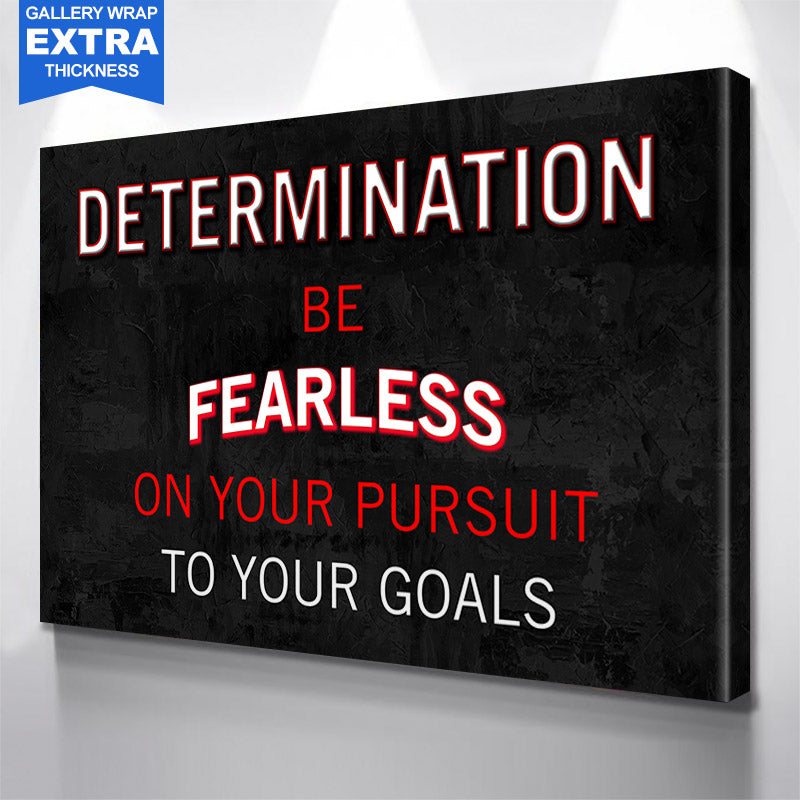 Determination Defintion  Canvas Motivational Wall Art