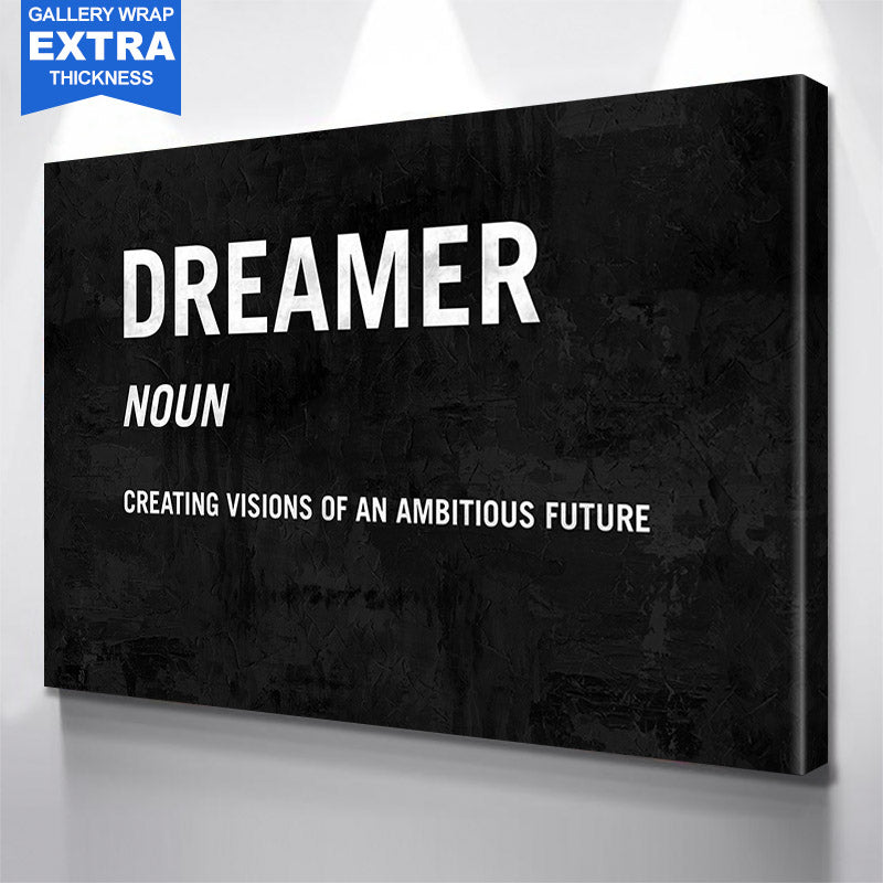 Dreamer Definition  Canvas Motivational Wall Art