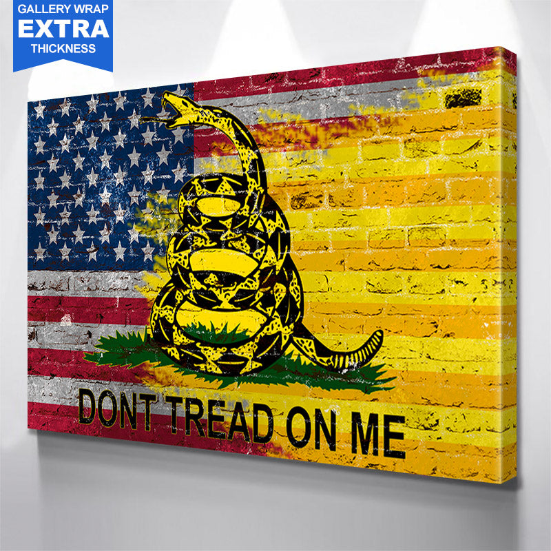 Don't Tread On Me American Flag Wall Art