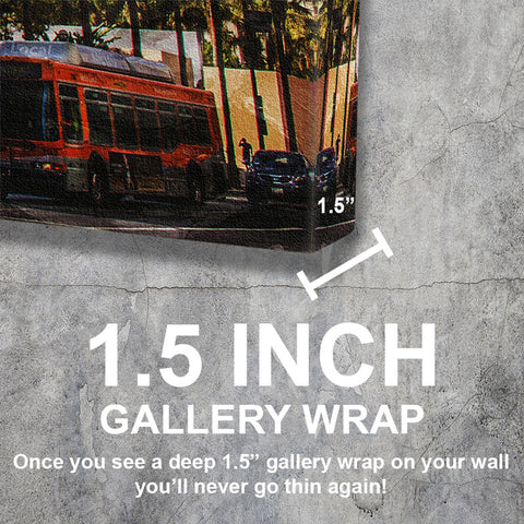 Downtown Los Angeles Skyline Gallery Wrap Canvas