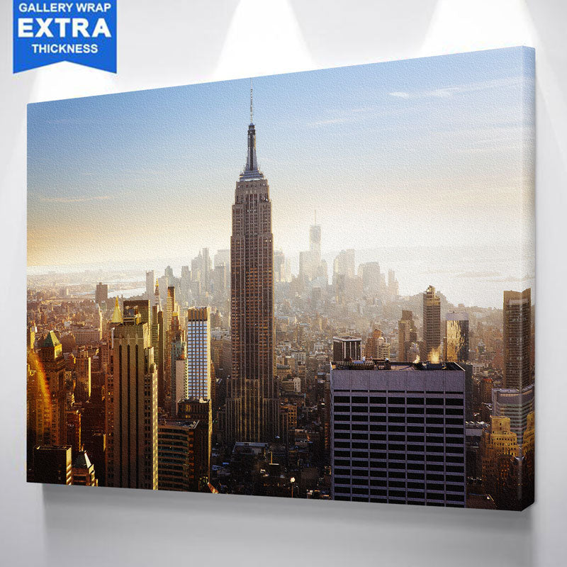 NYC Empire State Building Aerial Skyline Canvas